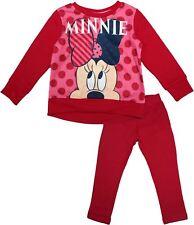 Disney Minnie Mouse Girls Chrildrens Hey Tracksuit Set