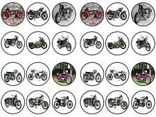 24 classic motorcycles norton harley triumph honda  cupcake cake toppers party