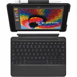 "Logitech iPad Slim Combo Case Bluetooth Wireless Keyboard iPad 9.7"" 5 & 6 Black"