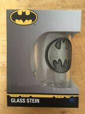 BATMAN LOGO GLASS STEIN 500ML. Brand New & Boxed Free P&P