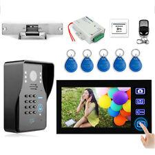 """7"""" Wireless Video Doorbell Intercom  Door Phone kit with Electronic Strike Lock"""