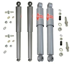 Pair Set of 2 Rear KYB Gas-a-just Shock Absorbers Monotube Performance Upgrade For Chevrolet Blazer C10 GMC Jimmy K15