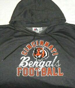 Cincinnati Bengals Football Men's Pullover Hoodie, NFL Team Apparel Majestic 5XL