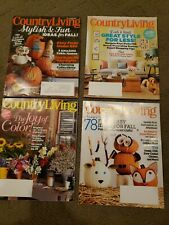 LOT OF 4 issues of COUNTRY LIVING Magazine - 2014 & 2015
