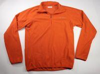 Columbia Womens Orange Long Sleeve 1/4 Zip Jacket Size Medium