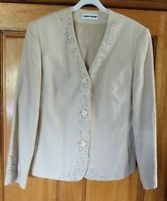 GERRY WEBER ladies beige, linen jacket. Size UK16. New.