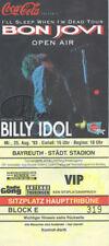 BON JOVI 1993 Sleep Tour Concert Ticket Billy Idol Germany