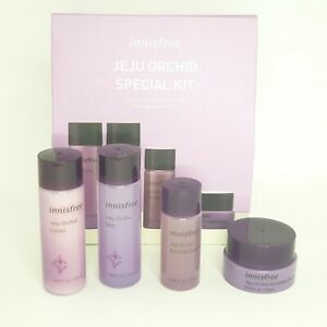 INNISFREE JEJU ORCHID SPECIAL KIT 4 Items Samples Travel Set Korean Cosmetic