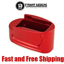 Tyrant Designs Magazine Base Plate Extension +1/2 Rd for M&P Shield 9&40 - Red