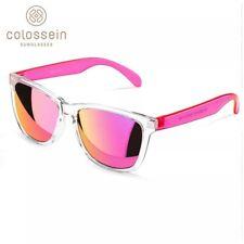 dc2c75953d Gafas De Sol Polarizadas colossein estructura transparente y lentes espejo  rosa.