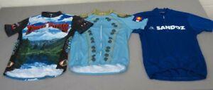 (3) Cycling Jerseys Men's M Pace Sandoz Primal Wear Bailey Hundo & Triple Bypass