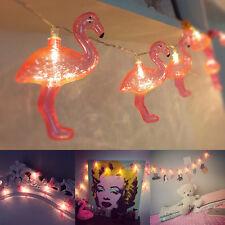 10 LED Flamingo Schnur Licht Lampen Novety für Garten Hochzeit Weihnachten Deko