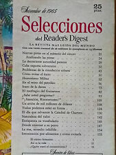 Revista Selecciones del Reader´s Digest vintage - sept 1965 España - publicidad