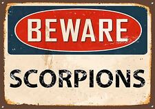 Beware Scorpions Metal Sign Vintage Style Garden Door Wall Warning Plaque 503