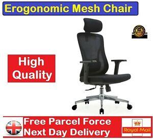 SIHOO Ergonomic Chair Office with Lumbar Support & 3D Armrest High Back Grey UK