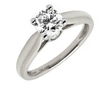 14K White Gold Prong Round Diamond Solitaire Si2 Bridal Engagement Ring 1ct