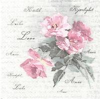 Lot de 2 Serviettes en papier Fleur Magnolia Decoupage Collage Decopatch