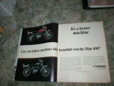 1970 Yamaha Enduro Cycle Ads: DT-1C  250, RT-1  360  2 page Original