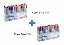 Copic Ciao pennarello 72 A 72B Set Combine RICARICABILI CON INCHIOSTRI VARI Copic