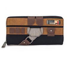 Loungefly Star Wars Han Solo Black Brown Zip Around Wallet NEW Women's Carriers