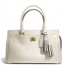 Coach Chelsea Legacy Leather Carryall bag purse white ivoryF25359