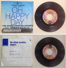 The Edwin Hawkins Singers Disque 45T vinyl 2 titres Oh happy day vintage