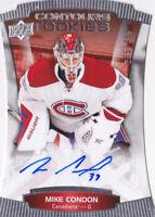 15-16 Upper Deck Contours Mike Condon /499 Auto Rookie Canadiens Senators 2015