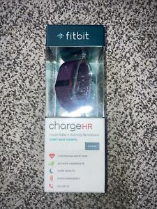 Fitbit Charge HR Wireless Activity Wristband Plum Large W Dongle But No Charger