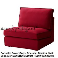 Ikea COVER for Kivik One Seat Section Chair DANSBO MEDIUM RED Slipcover NEW FS