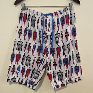 Mens Peter Alexander x DC Comics Pyjama Sleep Shorts Batman Superman Size M