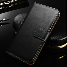 New Luxury Genuine Real Leather Case Flip Wallet Stand Cover For LG Optimus L90