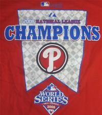 Mens T Shirt T-shirt Tee Baseball 2008 World Series National Phillies Cotton 2XL