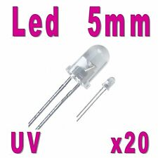 20x LED 5mm Ultra Violet 1000mcd