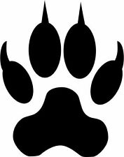 4 x Wolf Hunde Pfote Sticker Decal Aufkleber Tier 7 cm breit Hund