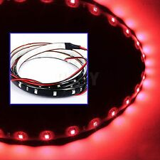 2 Stk Rot LED Strip 30cm 15 SMD 3528 LED Auto Band Streifen Leiste Wasserdicht