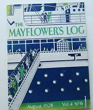 Rare The Mayflower's Log Magazine  Art Deco Cover by Millar dated August 1928