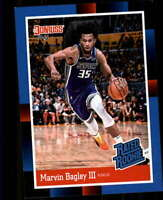 2018 Panini Instant 1988 Rated Rookie #RR2 Marvin Bagley III RC Sacramento Kings