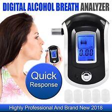 2018 Professional Police Breath-Alcohol Tester LCD Digital Breathalyzer UK