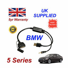 BMW 5 Series (611204407) For Apple 3GS 4 4S iPhone iPod USB & 3.5mm Aux Cable
