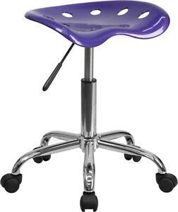 Flash Furniture Purple Plastic Stool, Violet - LF-214A-VIOLET-GG