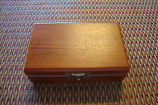 Decorative Trinket Jewelry Tool Storage Box Vintage Wooden Chest Treasure Case