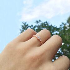 Fashion Diamond Round Cut White Sapphire Engagement Ring Bridal Jewelry Gifts