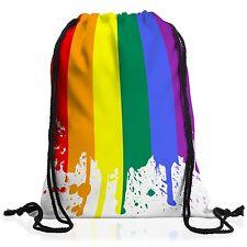 Regenbogenflagge Rucksack Turnbeutel gym bag pride csd gay schwul lesbisch lgbt