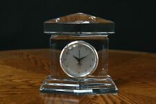 Lenox Crystal Ovations Large Monument Mantle Clock Signed