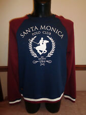 Santa Monica Polo Club Mens Sweatshirt Top long sleeved jumper BNWT