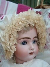 Antique Doll Clothes Silk Lace Frilly Victorian Bonnet