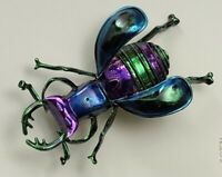 Unique Insect  large  Beetle lPin brooch   Enamel on Metal