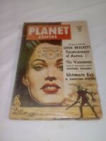 HTF 1954 PLANET STORIES SCI FI PULP ~GOOD COMPLETE CONDITION