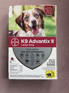 K9 Advantix II for Large Dogs (21-55 lbs, 6 Month Supply) USA EPA APPROVED