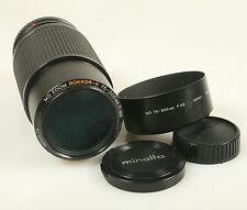 75-200mm F 4.5 MINOLTA ROKKOR - X LENS